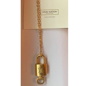 Louis Vuitton Gold Lock and Key Necklace
